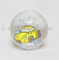Car gitter bounce ball toy, plastic bouncing ball with air inside