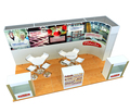 fabric exhibition display , custom trade show exhibit display for exhibition system