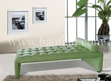 High Quality Leather Chaise , leisure couch for home , sofa bed