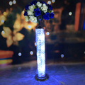 beautiful tall crystal pillar stand&flower stand centerpieces for wedding table decoration