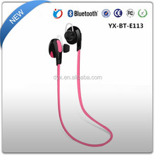 colorful sports bluetooth soft in-ear headphones, wearing relaxed and comfortable