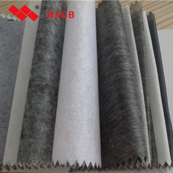 Double Dot Adhesive Non Woven Interlining Coated Fusible Fabric For coats,suits,ties,jackets