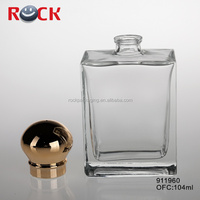 french square glass bottles/cosmetic glass bottle wholesale 100ml