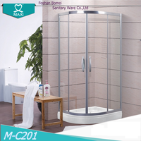 Frame small semi arc corner shower room design M-C201