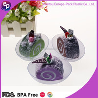 Popular design Europe pack disposable plastic sauce dish food grade plastic tray three selection dessert plaste