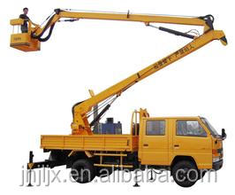 vehicular crank arm lift, skylift, bucket truck for high-altitude working
