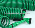 Sprial hose recoiled hose and garden nozzle 25ft 50ft 100ft 7.5m 15m 30m