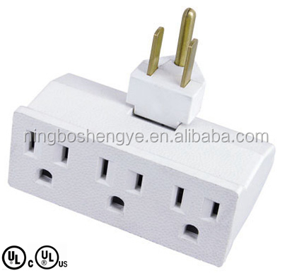 UL/CUL swivel outlet adapter current tap