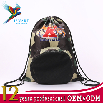 Basketball gym training Factory Wholesale drawstring closure backpack For mens