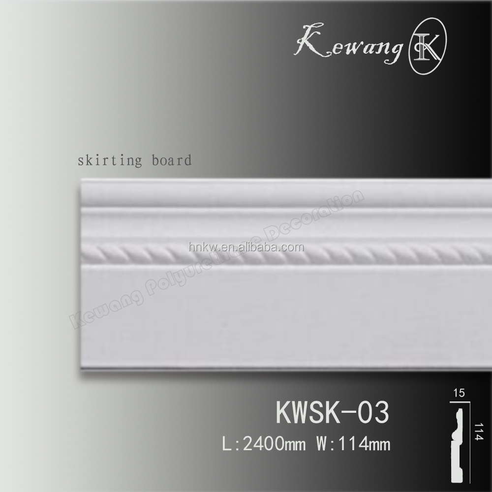 KWSK03 Good price Beautiful Decorative Polyurethane Waterproof Baseboard Moldings