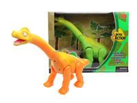 DD0401211 yellow green long neck Walking Roaring Dino