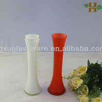 Full color glass vase home decoration glass vase,cheap glass vase