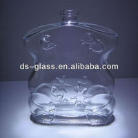 100ml engraved glass perfume bottle