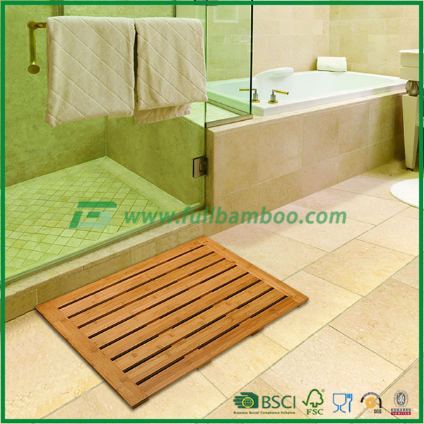 classic bamboo bath and shower mat from Fuboo