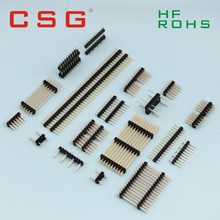 Plastic CE ROHS UL1.27 2.54mm Straight Single Row PCB Male Pin Header 8 pin connector
