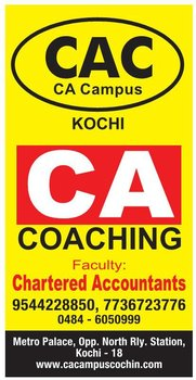 cca, chartered accountancy, coaching centre, cpt , ipcc, ca final, icai,sreeram, pillais , cac ca campus, cochin, eranakulam