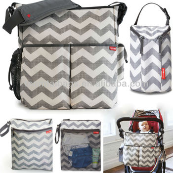 Pretty diaper bag/crinkle nylon diaper bag/mummy bag