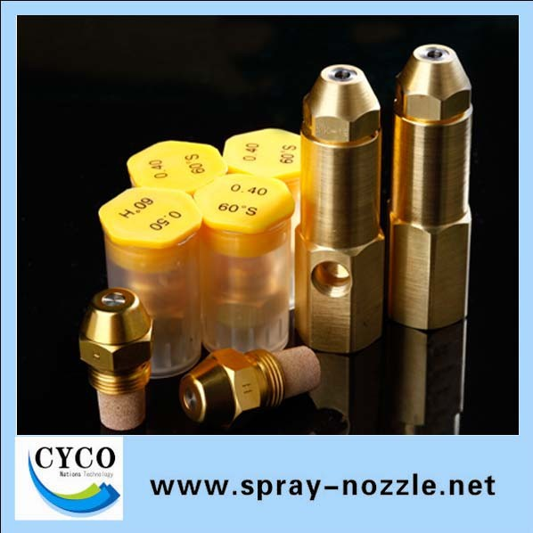 Oil mist burner nozzle