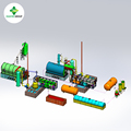 80% -90% high oil yield used engine oil recycling machine to clear diesel