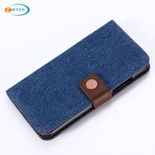 2 Colors Metal Magnetic Button Durable Covers Jeans Leather Wallet Case for iPhone X