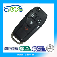 F-ord F-ocus car key,F-ord F-ocus remote keyfob,433MHZ car remote key 4buttons keyfob