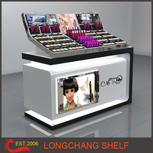 Fashionable Cosmetic Product Display Stands For Makeup Shop Design