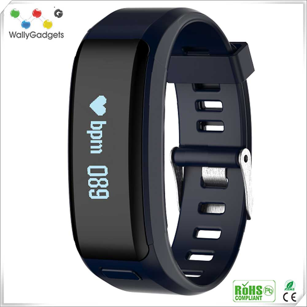2016 Hot Style Healthy Tracker Bluetooth Smart Bracelet Android body fit heart rate monitor watch