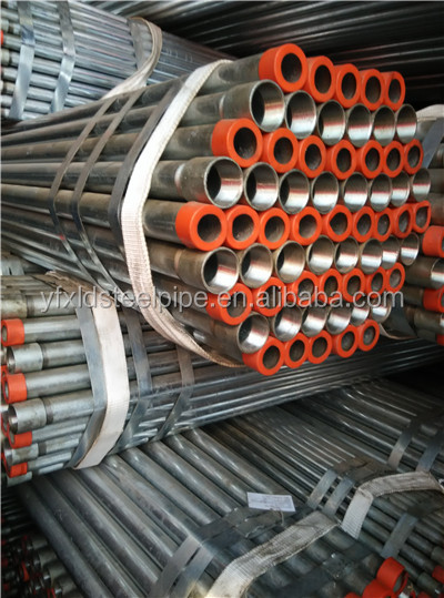 Screw threaded galvanized pipe