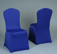 The most welcomed 190gsm BLUE cheap wedding or outdoor disposable spandex chair cover.