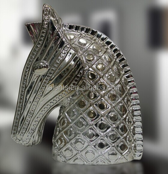 electroplate resin horse head craft
