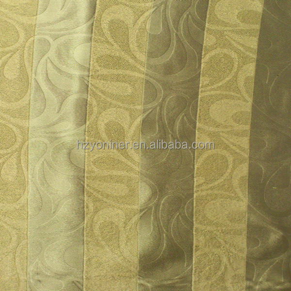 2015 100% Polyester stripe stripe blackout fabric for luxury hotel curtain fabric new design