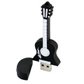 Mini wood guitar shape 100% real capacity U disc pendrive wholesale