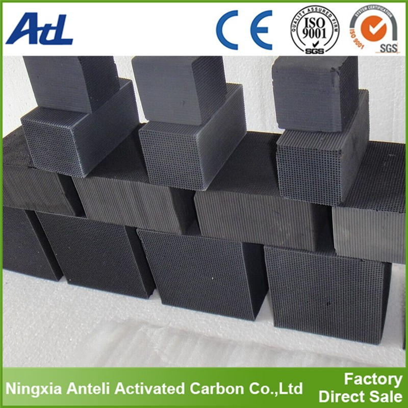 odor absorbing material honeycomb activated carbon for air filter