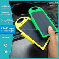 CE/FC/RoHS certification 5000mah solar charger waterproof for iphone 6 US market