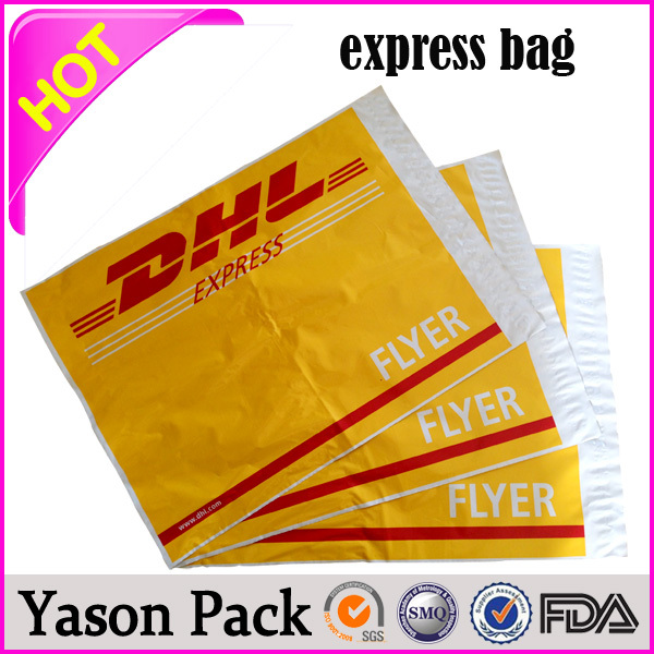 Yason custom print poly postage mail bag recyclable mail bag pe plastic express courier bag