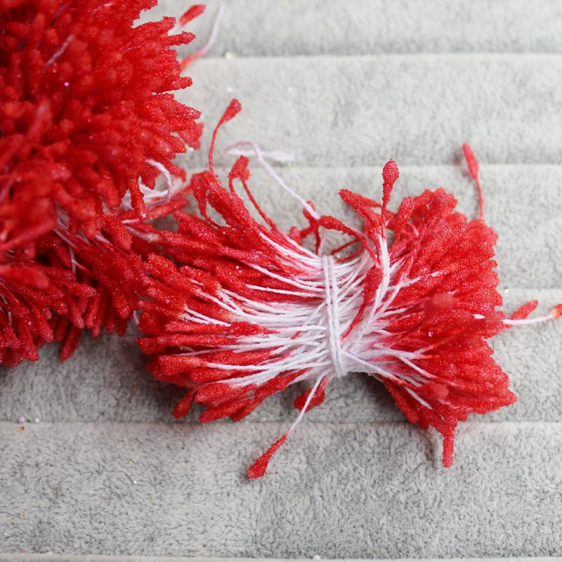 Various of Length 6cm Micro Glass Beads Double Headed Floral Stamens for Handmade Flowers Making
