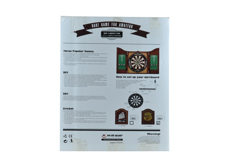 Wooden Box Dart with Dart Score Board Pub Decorative Cabinet Box
