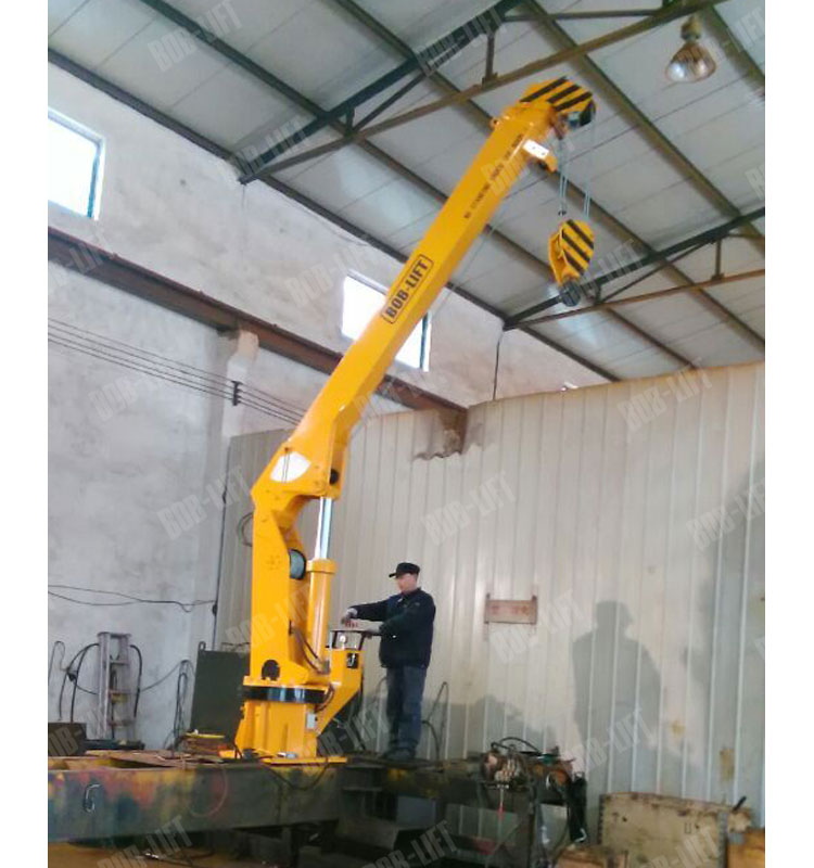 5 Ton telescopic ship lifting crane