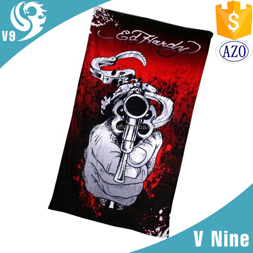 pure cotton velvet magic beach towel for wholesales