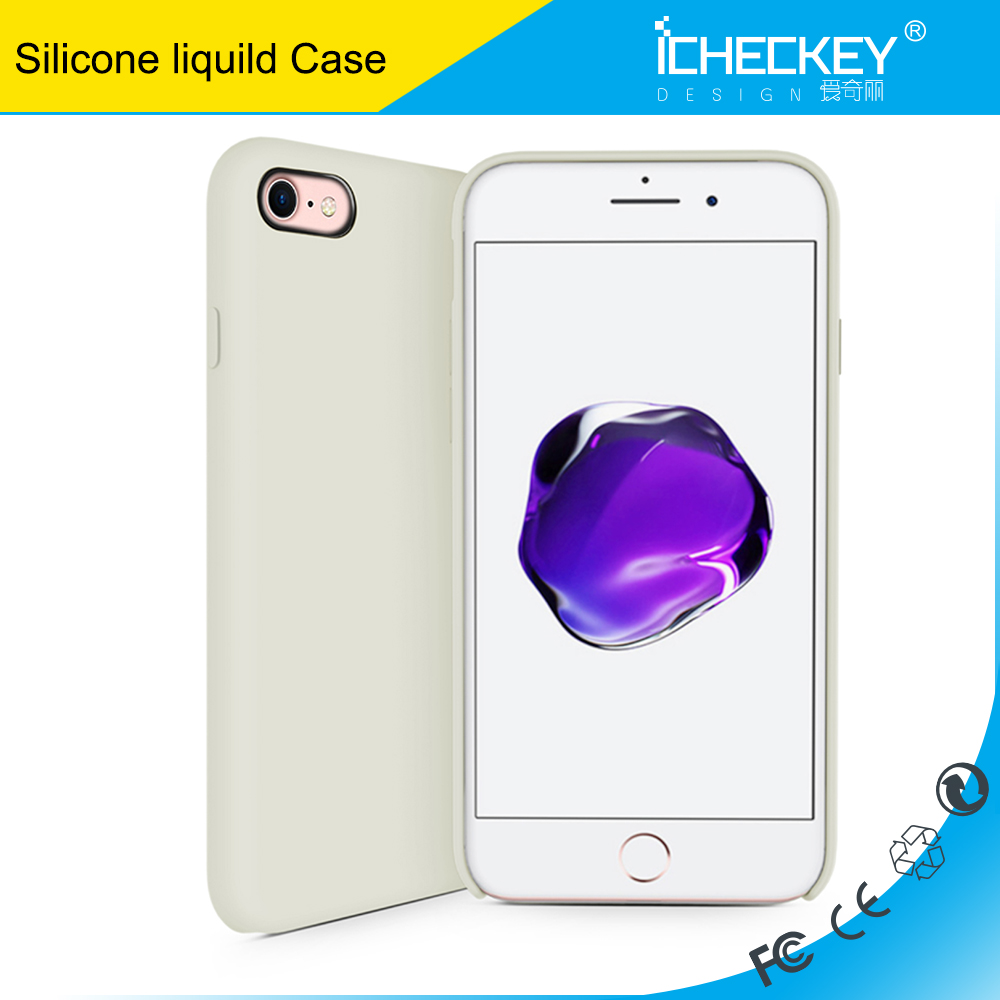 Original 1:1 Liquid Silicone cover case for iPhone7