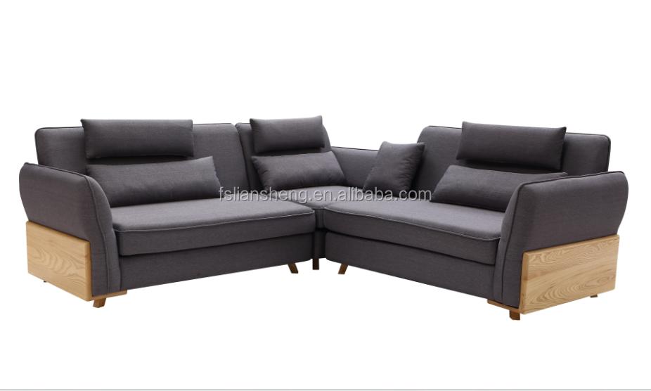 Comfortable Soft Seat Fabric Corner Sofa Sets For Home