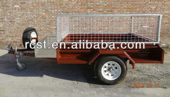 Painted box trailer, utility trailer, cage trailer