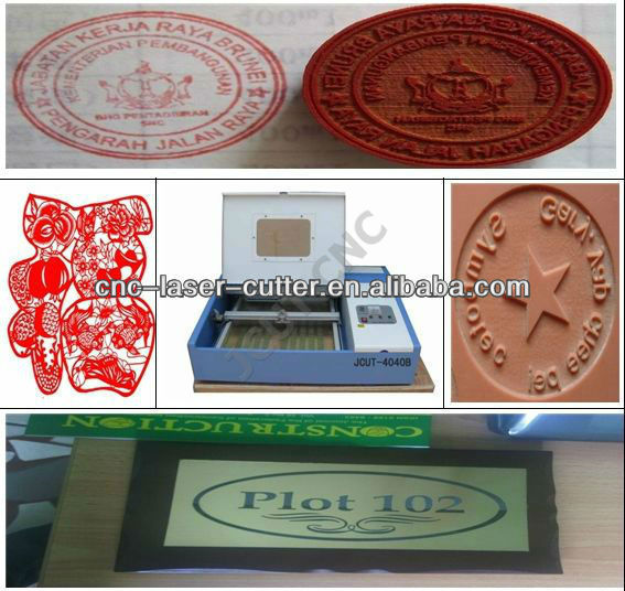 40w co2 Stamp Seal laser engraving machine JCUT-4040B