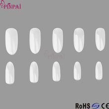 PinPal brand wholesale new false nail frosted short oval display acrylic nail tips