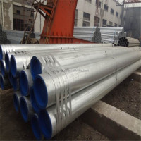 China Exporter Astm A53 Galvanized Erw Fluid Steel Pipe