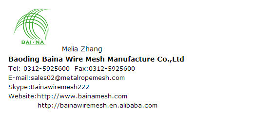 steel rod decorative mesh/woven wire mesh/decorative wire mesh for sale