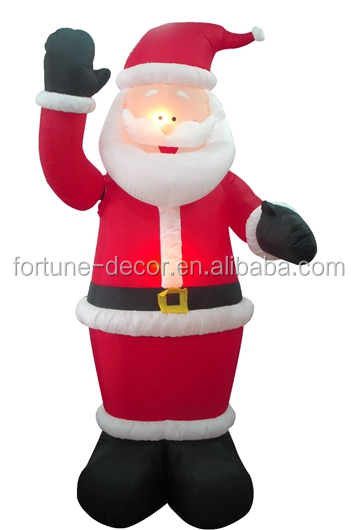 270cmH/9ft inflatable Christmas decoration standing Santa with moving hand
