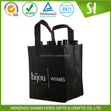 black beer carry bag/non woven wine bag
