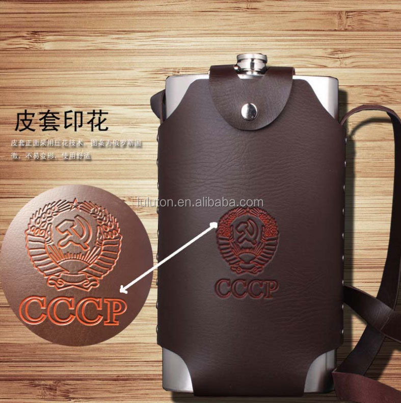 Mini Type and Metal Body Material OEM 7oz stainless steel wine mini flagon metal hip flask