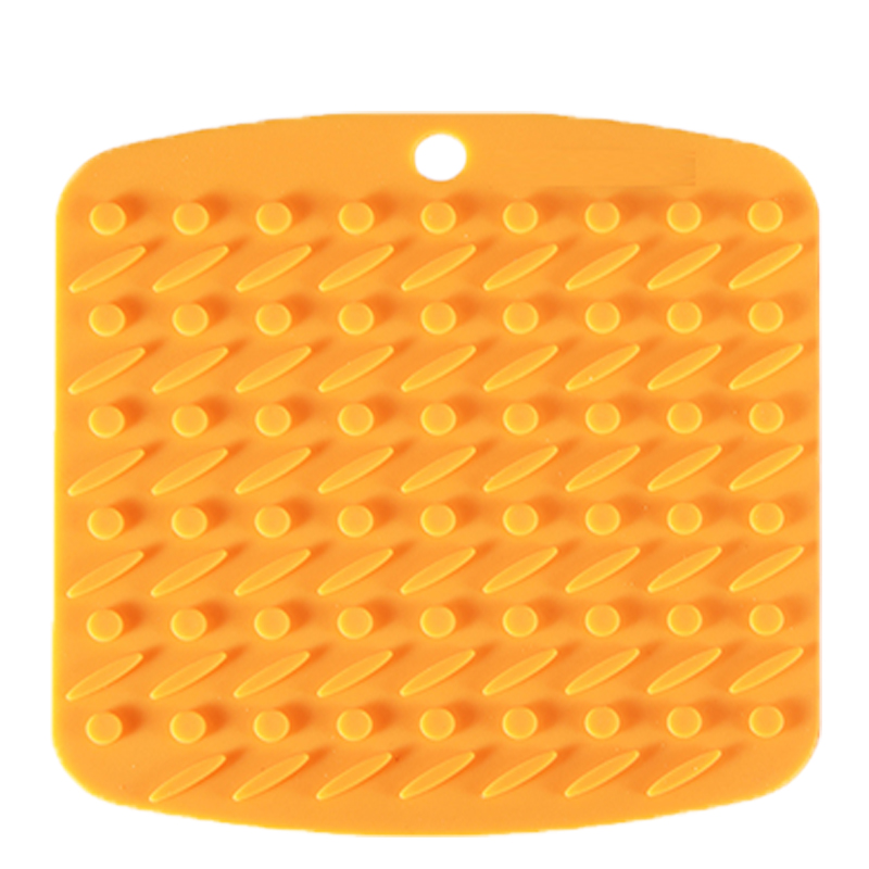 Silicone Durable Flexible Pot Holder Non Slip Heat Resistant Hot Pads (Square)